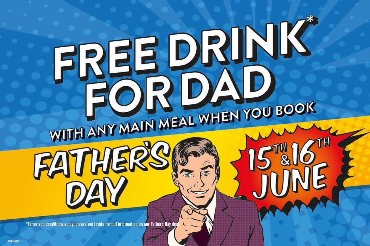 Offer for Father's Day at the Hungry Horse